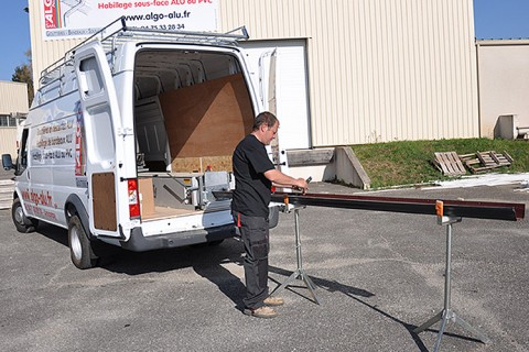 camion atelier algo aluminium fabrication gouttières annonay